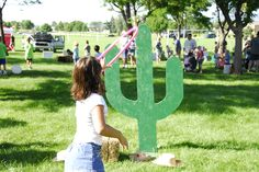 Cactus Toss at Western Welcome Week's Kids Games of Old, Littleton, CO