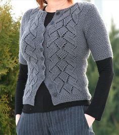 Ravelry: Project Gallery for Paekivi jacket pattern by Anna Kuduja - free pattern