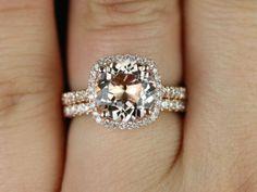 Barra Princess Size 14kt Rose Gold Thin Morganite by RosadosBox, $1675.00