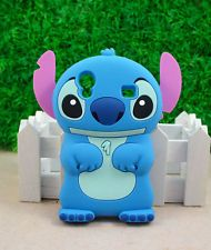 Cute 3D Stitch Silicone Back Case Cover For Samsung Galaxy Ace S5830 Blue