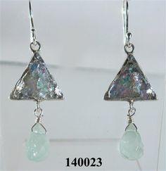 "Roman glass #""roman glass"" #earrings #bluenoemi 134 USD http://www.bluenoemi-jewelry.com/roman-glass-earrings301.html"
