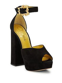 3ca3298fe3a Charlotte Olympia - Chantale Suede Platform Sandals