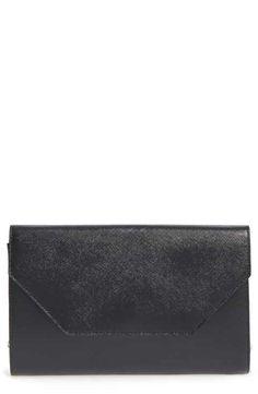 Halogen® Textured Leather Clutch