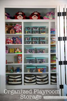 I'm so excited to share my organized playroom with you all today! Toy storage was my main priority when I designed this space!