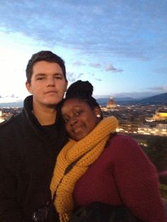 Cute interracial couple take in the sights in Florence, Italy #love #wmbw #bwwm