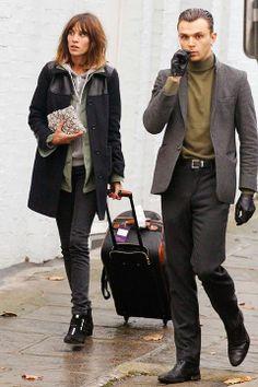 Alexa Chung and Theo Hutchcraft, November 2011