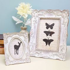white 'shabby chic' photo frame by lisa angel homeware and gifts   notonthehighstreet.com