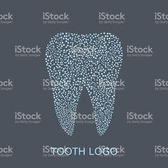 Зуб с логотипом. Медицинский дизайн. Стоматолога офис». Векторный рисунок. Сток Вектор Стоковая фотография