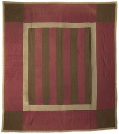 Bars Quilt, Lancaster Co, Pennsylvania. Classic Quilts from the American Museum in Britain. Old Quilts, Amish Quilts, Antique Quilts, Vintage Quilts, Fabric Rug, Fabric Painting, Amish Quilt Patterns, Log Cabin Quilts, Traditional Quilts