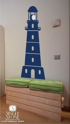 Our Lighthouse wall decal is perfect for your nautical nursery and stands  68 tall by 23 adbb593f6