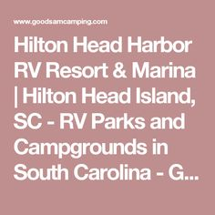 Hilton Head Harbor RV Resort Marina