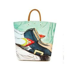 Anya Hindmarch Earl Valentine Tote Leather In Multi