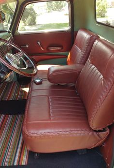 Interior F100 1954 Ford F100 Interior View Red And White