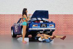 Garota e mecânico