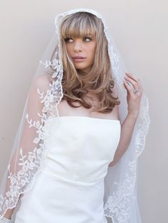 Hair Comes the Bride - Vintage Lace Bridal Veil ~ Hermosa, $189.00 (http://www.haircomesthebride.com/vintage-lace-bridal-veil-hermosa/)