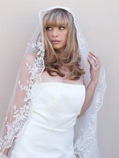 Hair Comes the Bride - Vintage Lace Bridal Veil ~ Hermosa, $189.00 (http://www.haircomesthebride.com/vintage-lace-bridal-veil-hermosa/)