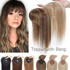 Women 100%Virgin Human Hair Toupee Silk Base Clip In Topper Hairpiece Wig BLONDE | eBay Thin Hair Haircuts, Hairstyles With Bangs, Diy Hairstyles, Straight Hairstyles, Human Hair Clip Ins, Remy Human Hair, Wig Bob, Hair Toupee, Diy Hair Care