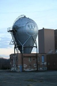 The Westinghouse Atom Smasher in Forest Hills, PA (just outside of Pittsburgh) was the first industrial atom smasher. It is still standing (complete with historical marker) even though the surrounding research complex has been torn down.
