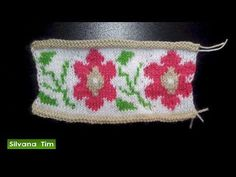 Tejido en Jacquard o Jackard. FLORES. Tejido con dos agujas # 468 - YouTube Knitting Videos, Crochet Videos, Textiles, Youtube Youtube, Matilda, Stitches, Weaving Techniques, Weaving Patterns, Tejidos