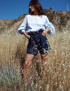 On aime quand le short en jean se fait plus chic que destroyed ! (short Gap - photo Marta Cygan)