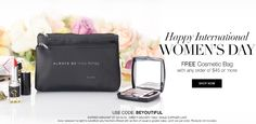 Happy International Women's Day!!!  For this special day, we are celebrating with a free cosmetics bag with any $45+ purchase. Offer available at www.chicagosbeauty.com. Use code: BeYouTiful…