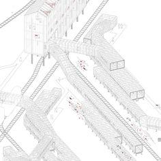 ETSAM Architecture Final Thesis. PFC Cristina Teran Sanjuan Coal mining landscape regeneration grid. Red de regeneración del paisaje minero. Villablino, León