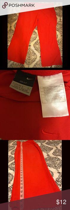 Dri-Fit Nike Pants Women's Nike Dri-fit Red Yoga/Running/Workout Capri Style Pants  88% Polyester 12% Spandex  Length 32in & Inseam 23in Nike Pants Capris