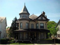 Gorgeous Woodwork in this fabulous 1880 Victorian Treasure. This is a grand home for the price. 1st floor has a center foyer, turret/parlor room, formal living and huge 21x14 dining room, Galley style kitchen, office (every piece of furniture in this room goes with the seller including attached pieces), full bath. There are two pocket doors, turned staircase, one stained glass window. It is just fantastic if you like natural woodwork!! 2nd floor has 4 good sized bedrooms, a full bath, plus a…