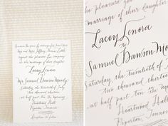 Gorgeous Calligraphed #wedding #invitation | photo by www.annabellacharles.com| design bywww.rachelfishercalligraphy.com #calligraphy