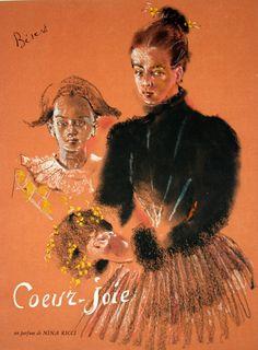 Affiche Nina Ricci Parfum Coeur-Joie - France - 1930 - illustration de Berard -