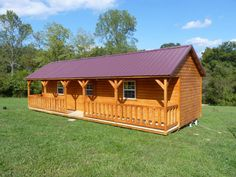 Hilltop Structures manufactures modular system built cabins, portable storage buildings, horse and livestock barns and more. We build some of the largest pre built cabins in Tennessee. Small Log Cabin, Tiny House Cabin, Tiny House Plans, Tiny House On Wheels, Tiny House Design, Cabin Homes, Small Cabins, Log Homes, Farm House