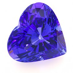 Fine Tanzanite eye clean heart, weighing 7.28 cts from Tanzania. Tanzanite is the trade name given by the gemmologists at Tiffany & Co to the transparent violet-blue variety of Zoisite, the mineral which was described by Abraham Gottlob Werner in 1805. Tanzanite is generally enhanced by heat unless otherwise specified.Surprisingly, it is the dark brown crystals that produce the most valuable dark blue stones after heating.