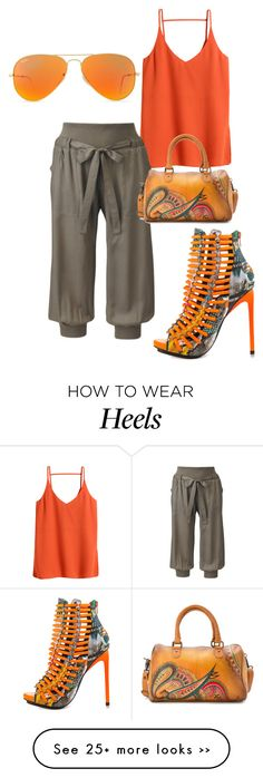 """""""Untitled #1456"""" by styledbycharlieb on Polyvore featuring H&M, Luichiny, Anuschka and Ray-Ban"""