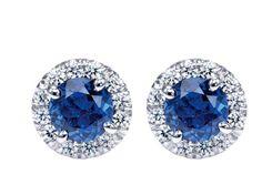 Gorgeous Gabriel & Co. Sapphire Jewelry, Sapphire Earrings, Sapphire Diamond, Blue Sapphire, Diamond Jewelry, Stud Earrings, Diamond Stud, Titanic Jewelry, Birthstones