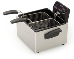 Home Presto 05466 Stainless Steel Dual Basket ProFry Immersion Element Deep Fryer, Silver Cooking Appliances, Small Kitchen Appliances, Cool Kitchens, Home Appliances, Kitchen Gadgets, Cooking Utensils, Kitchen Utensils, Ground Venison Recipes, Best Deep Fryer