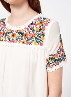 PETITE Embroidered Folk Dress