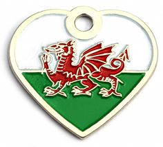 Small Welsh Flag Dog Id Tag | Happy Dog Days