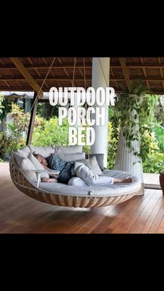 Beautiful relaxing bed swing! So fen shei..