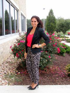 Office Look: Leopard Print Pants