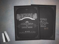 #Chalk #themed #wedding #invitations perfect for #vintage #weddings by love-weddings.com