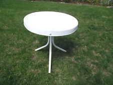"Vintage Shabby 20"" Outdoor Round Metal End Side Table for patio porch"