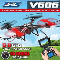 JJRC V686g 5.8G FPV Headless Mode RC Quadcopter with HD Camera Monitor ** Details can be found by clicking on the image.