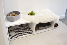 Indoor bunny hutch, Ikea cupboard hack. Free roaming DIY.