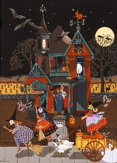 Trick Or Treat - Ann Thompson Art