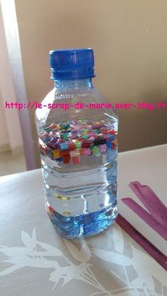 bouteille avec perles hama