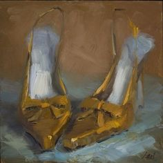 Lael Weyenberg- the artist may have depicted these shoes even better on canvas than real life.  Love!