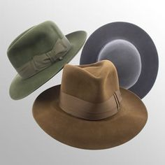 Poet The classic Bates Fedora and arguably the most famous Bates hat. Medium to high crown, medium to large brim, 4cm ribbon and a quality fur felt which gets better and better with age. Comes in Black, Navy Blue, Electric Blue, Grey, Mid-brown and Rich Green.