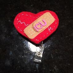 Nursing ID Badge Clip Handmade felt retractable clips Accessories Key & Card Holders