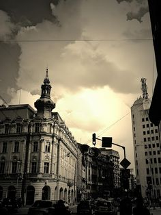Charming Bucharest: Calea Victoriei - sepia