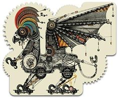 ARTIFACT PUZZLES - Mechanical Griffin Wooden Jigsaw Puzzle 207 Pieces MINT!